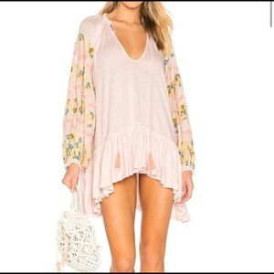 NEW Free People Mix It Up Tunic Embroidered Beaded